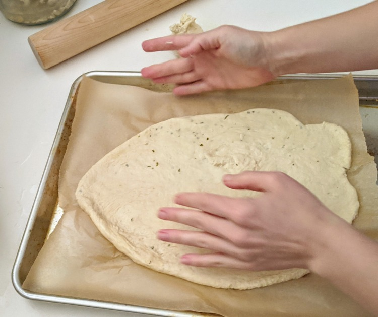 shaping the dough